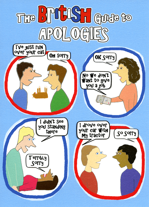 Funny Cards - British Guide To Apologies