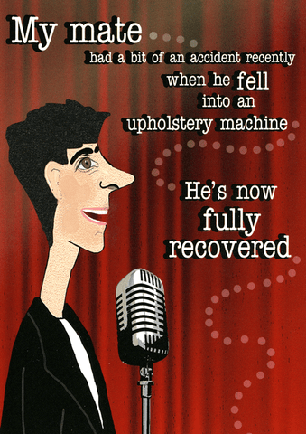 Funny Cards - Fell Into An Upholstery Machine