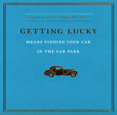 Getting lucky means finding your car
