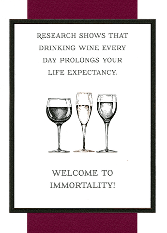 Wine prolongs life expectancy