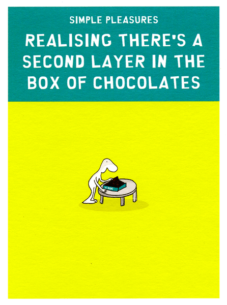 Humorous Greeting Card Second Layer In Box Of Chocolates