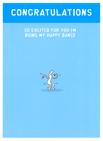 Funny Cards - Congratulations - Doing My Happy Dance