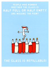 Funny Cards - Half Full Or Half Empty