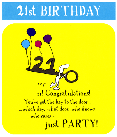 21st - Key to the party!