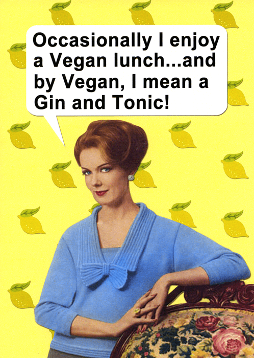Funny Cards - A Vegan Lunch