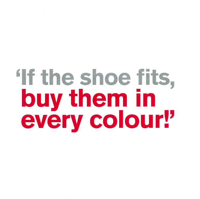 Funny Cards - If The Shoe Fits
