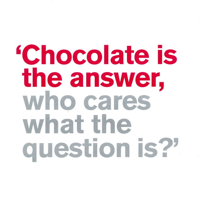 Funny Cards - Chocolate Is The Answer