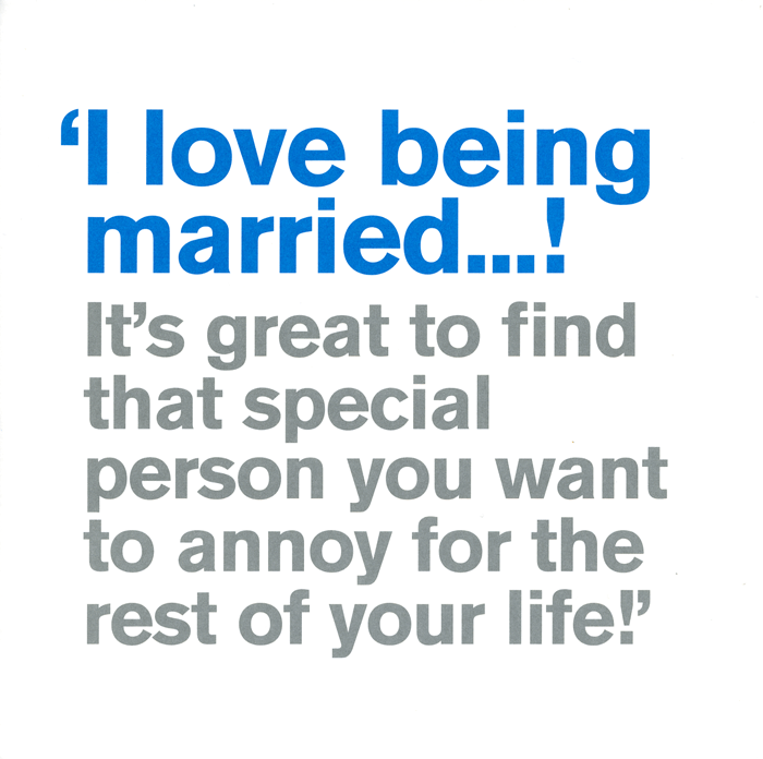 Love / Anniversary Cards - Husband: I Love Being Married