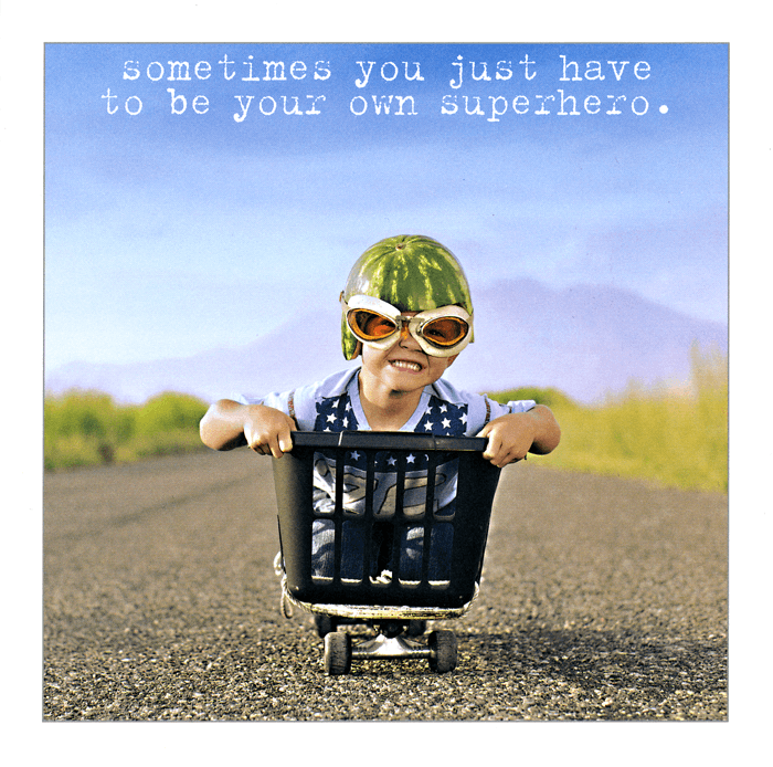 Funny Cards - Be Your Own Superhero
