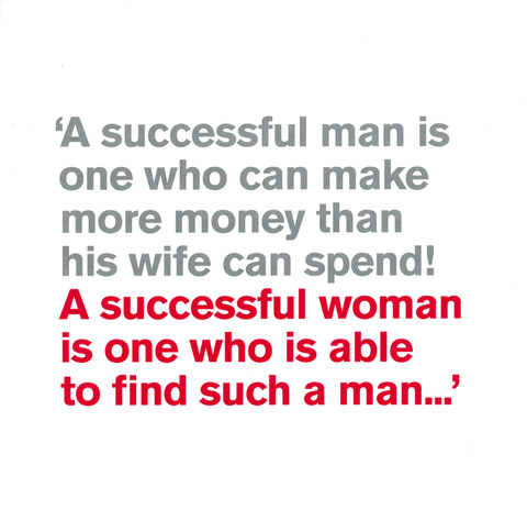 Funny Cards - A Successful Man