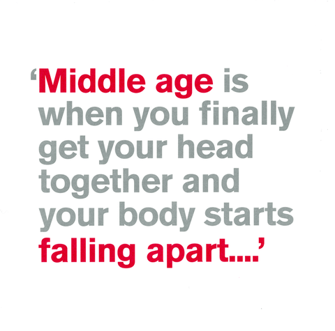 Birthday Card - Middle Age - Get Head Together