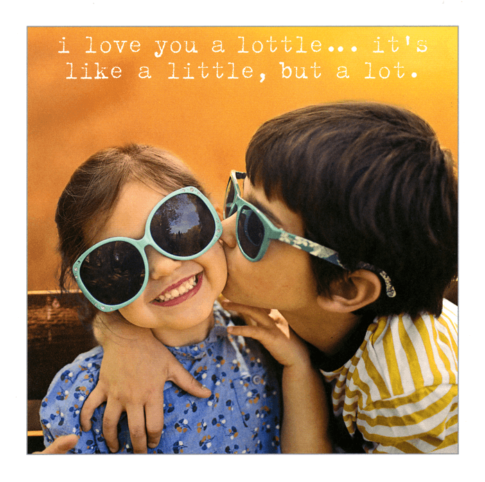 Love / Anniversary Cards - I Love You A Lottle