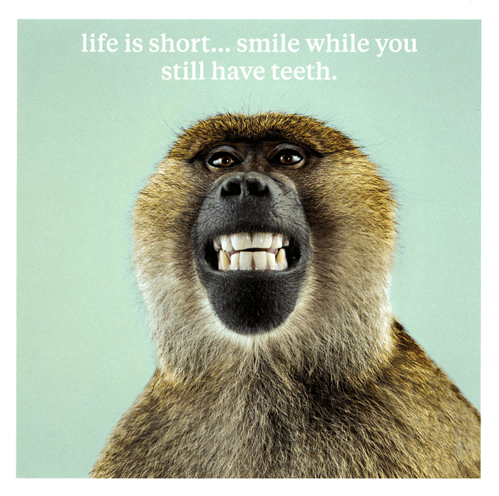 Birthday Card - Smile While You Still Have Teeth