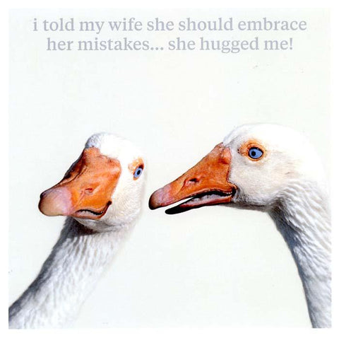 Funny Cards - Embrace Her Mistakes