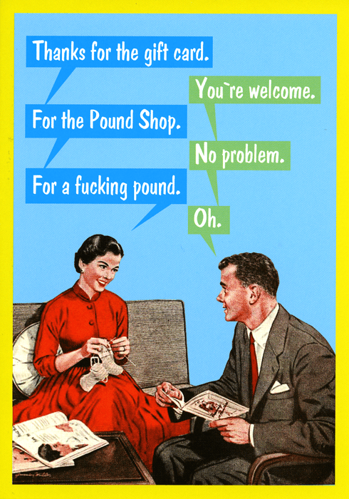 Rude Cards - Gift Card For The Pound Shop