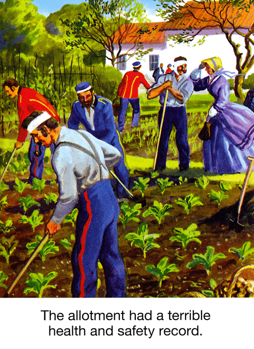 Funny Cards - Allotment Had A Terrible Health And Safety Record