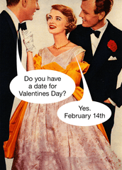 Valentines Cards - Date For Valentine's Day