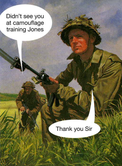 Funny Cards - Didn't See You At Camouflage Training