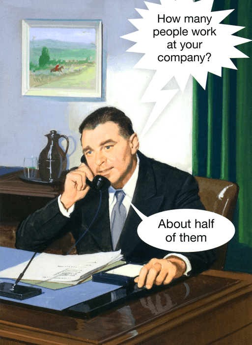 Funny Cards - How Many People Work At Your Company