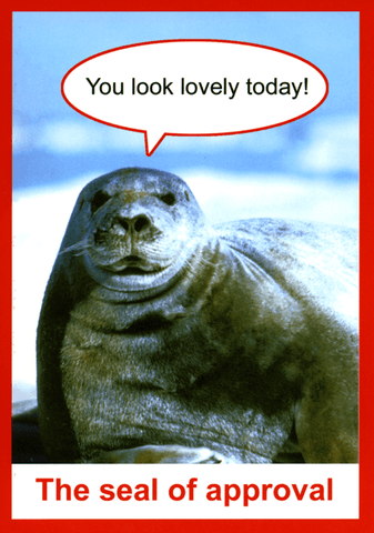 Funny Cards - The Seal Of Approval
