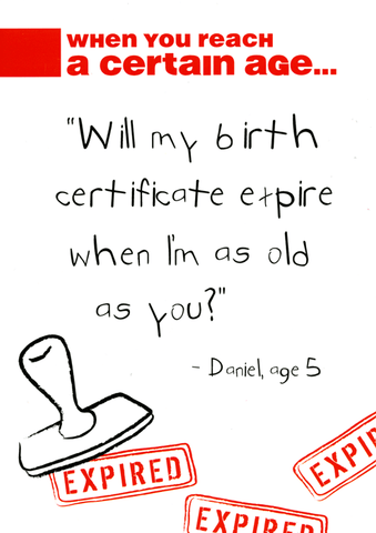 Funny Cards - Birth Certificate