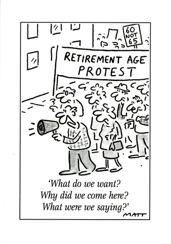 Retirement age protest