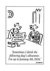 Funny Cards - Drink The Following Day's Allowance