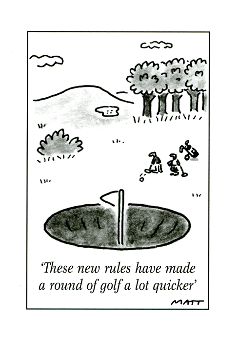 Funny Cards - New Rules - Golf Much Quicker