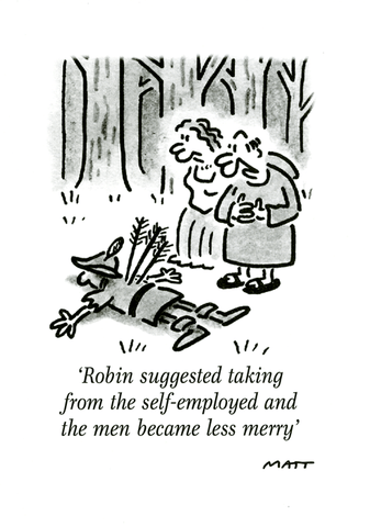 Robin Hood - taking from self-employed