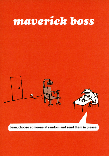Funny Greeting Card By Modern Toss Maverick Boss