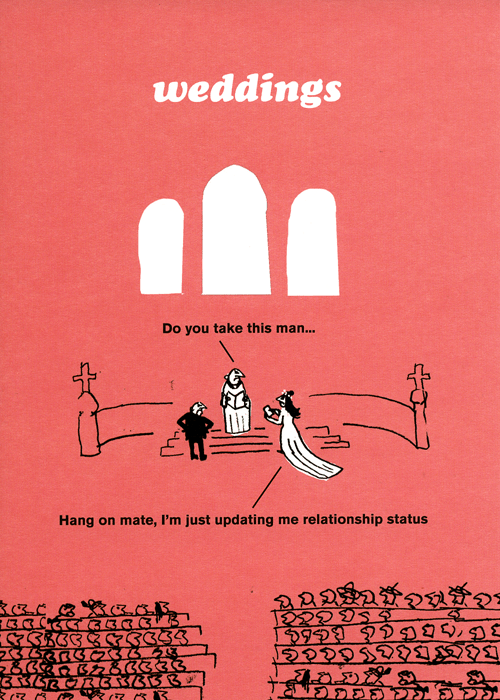 Funny Cards - Weddings - Updating Relationship Status