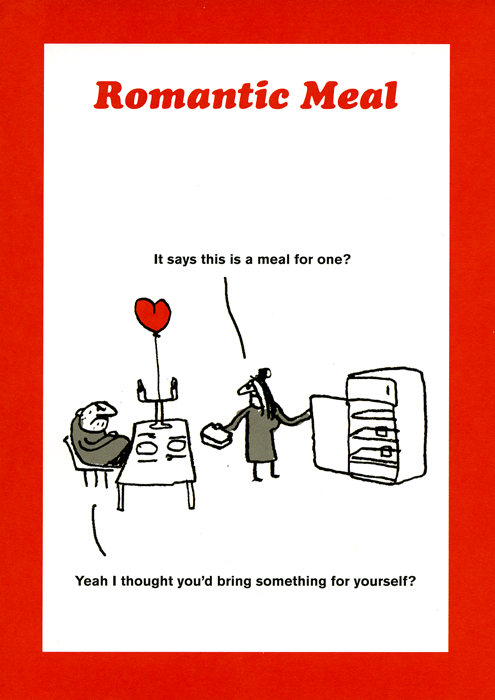 Funny Cards - Romantic Meal For One