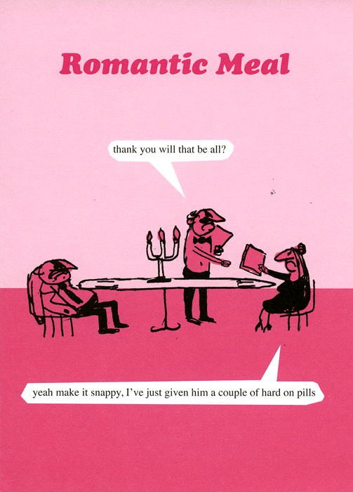 Funny Cards - Romantic Meal - Hard On Pills