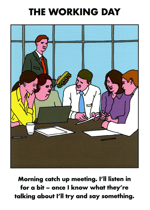 Funny Cards - Meeting - Try And Say Something
