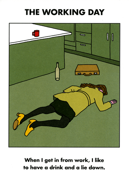 Funny greeting card - A drink and a lie down - Modern Toss ...