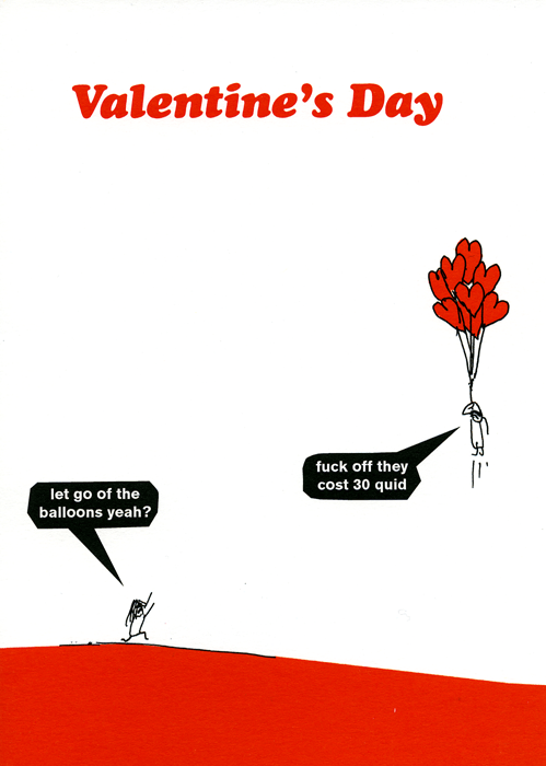Valentines Cards - Valentine - Let Go Of The Balloons