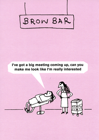 Funny Cards - Brow Bar