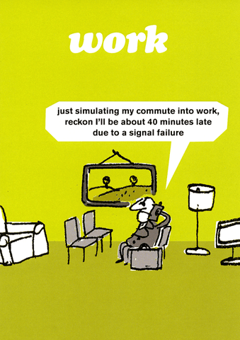 Funny Cards - Simulating Commute To Work