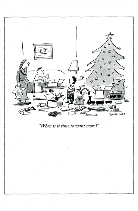 Funny Christmas Cards - When Is It Time To Want More?