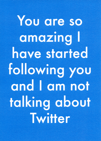 Funny Cards - Started Following You