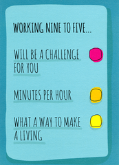 Funny Cards - Working Nine To Five