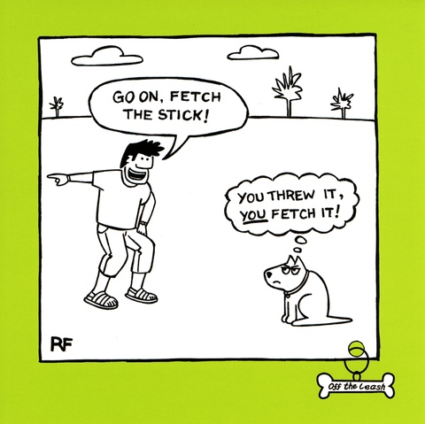 Funny Cards - You Threw It, You Fetch It