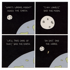 Funny Cards - I Am Lonely Said The Moon