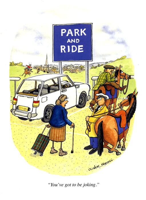 Funny Cards - Park And Ride - Horse