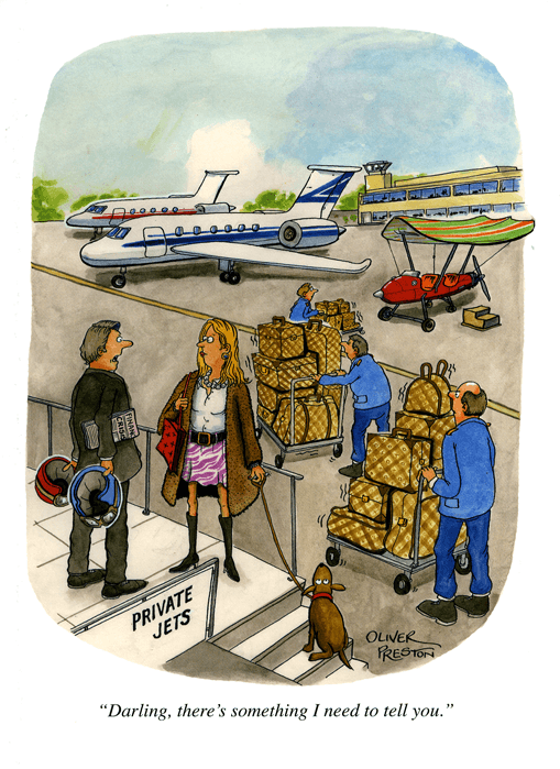 Funny Cards - Private Jet