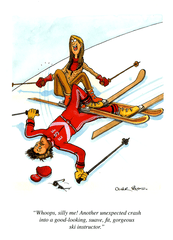 Funny Cards - Gorgeous Ski Instructor