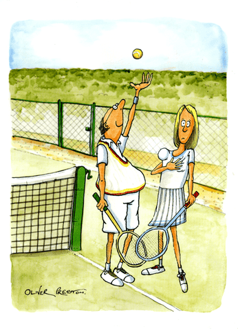 Funny Cards - Tennis Balls