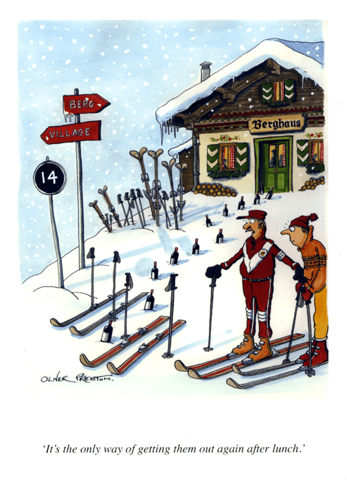 Funny Cards - Skiing - Out Again After Lunch
