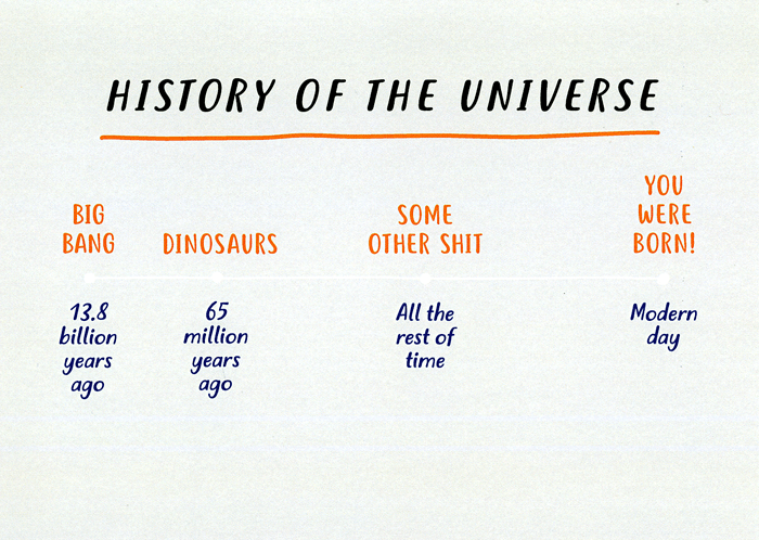 Funny Cards - History Of The Universe