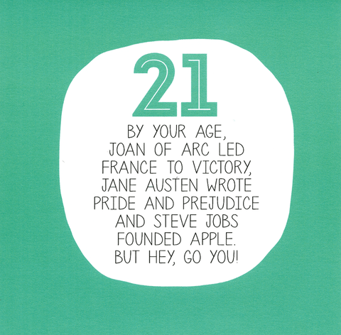 21st birthday - By your Age